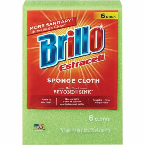 Brillo Sponge Cloth (6-Count) 21018 Perspective: front