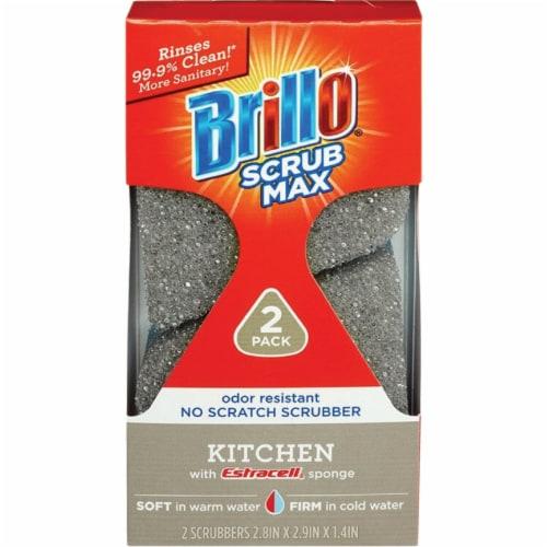 Brillo Scrub Max Kitchen Scrub Sponge (2-Count) 24824 Perspective: front