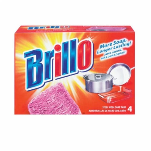 Brillo Steel Wool Soap Pads Perspective: front