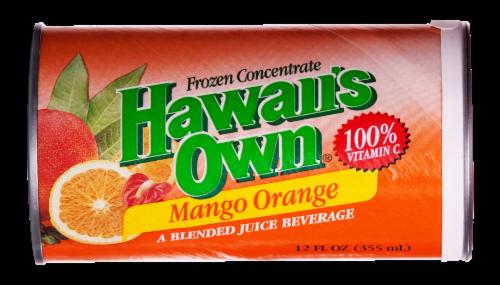 Hawaii's Own Mango Orange Frozen Concentrate Blended Juice Beverage Perspective: front