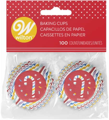 Mini Baking Cups 100/Pkg-Candy Cane Perspective: front