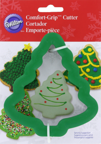Wilton Comfort Grip Christmas Tree Cookie Cutter – Green Perspective: front