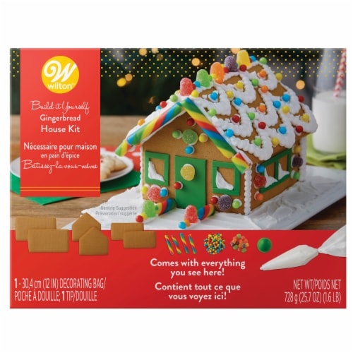 Wilton Build it Yourself Gingerbread House Kit Perspective: front