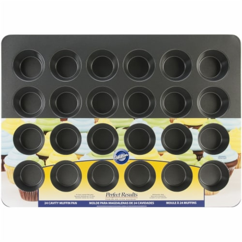 Wilton Perfect Results 24-Cup Nonstick Mega Muffin Pan - Black Perspective: front