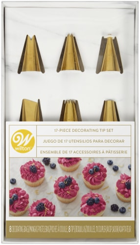 Cake Decorating Set W/Piping Tips 17/Pkg-Navy Blue And Gold Perspective: front
