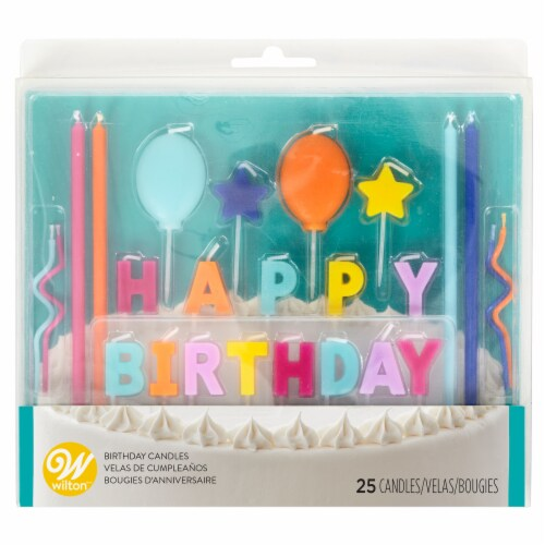 Holiday Home® Happy Birthday Bright Candle Set Perspective: front