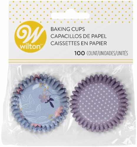 Mini Baking Cups-Floral Party, 100/Pkg Perspective: front