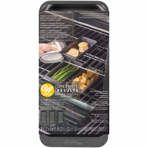 Wilton Perfect Results Premium Non-Stick Bakeware Set - Gray Perspective: front