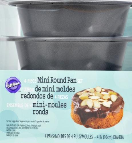 Wilton Round Mini Nonstick Cake Pan Set - 4 pk - Gray Perspective: front