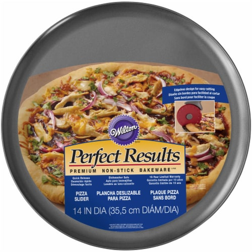 Wilton Perfect Results Pizza Slider Pan - Dark Gray Perspective: front