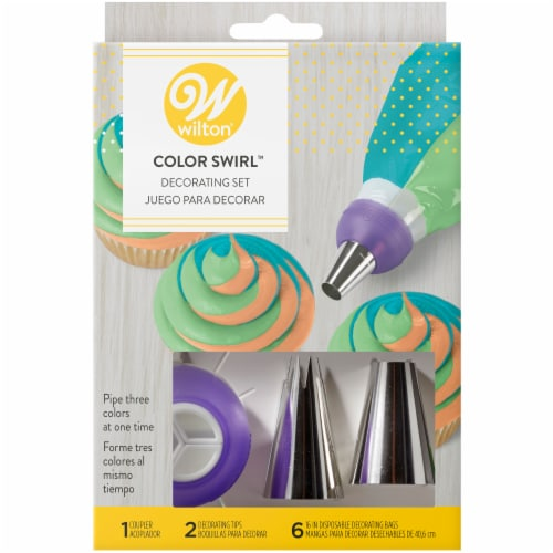 Wilton Color Swirl Decorating Set Perspective: front