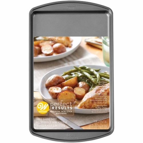 Wilton Perfect Results Large Non-stick Baking Sheet - Gray Perspective: front