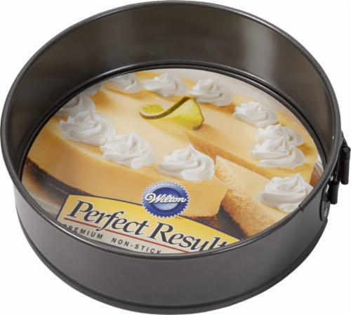 Wilton Perfect Results Nonstick Springform Cake Pan - Gray Perspective: front