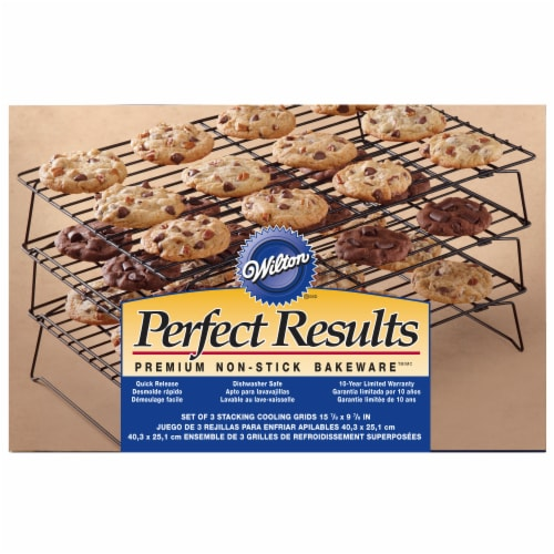 Wilton Perfect Results 3-Tier Cooling Rack - Silver - 1 Count Perspective: front
