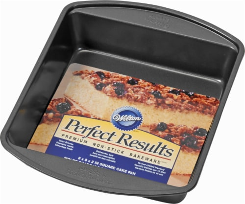 Wilton Perfect Results Square Cake Pan - Black Perspective: front