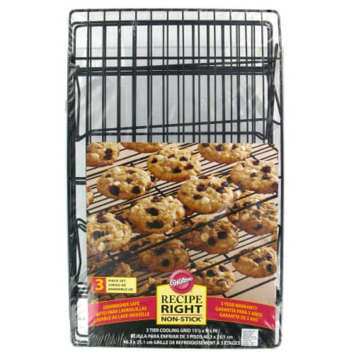 Wilton Recipe Right Non-Stick Cooling Grids - 3 pk - Black Perspective: front