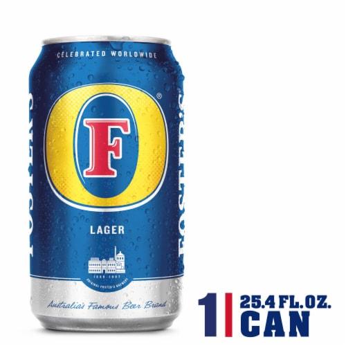Foster's Premium Lager Beer Perspective: front
