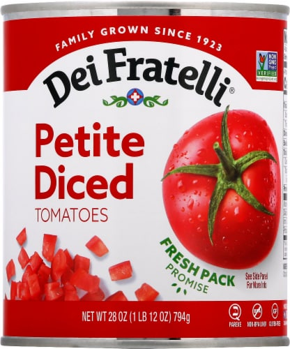 Dei Fratelli Petite Diced Tomatoes Perspective: front