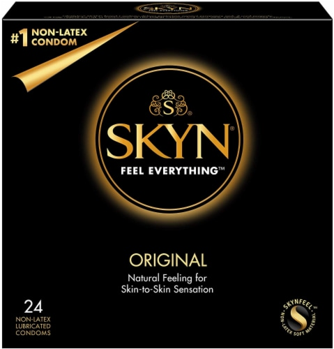 Lifestyles Skyn Original Lubricated Non-Latex Condom Perspective: front