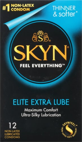 LifeStyles Skyn Extra Lubricated Non-Latex Condoms Perspective: front