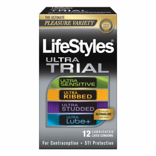 Lifestyles Ultra Tria Condoms Pleasure Variety Perspective: front