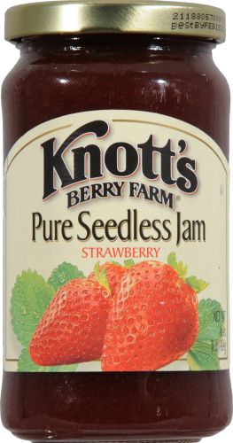 Knott's Berry Farm Pure Seedless Strawberry Jam Perspective: front