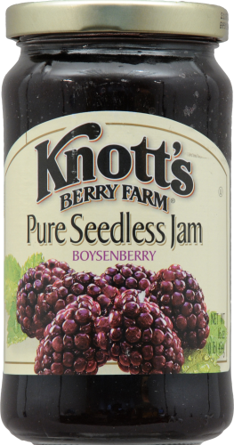 Knott's Berry Farm Pure Seedless Boysenberry Jam Perspective: front