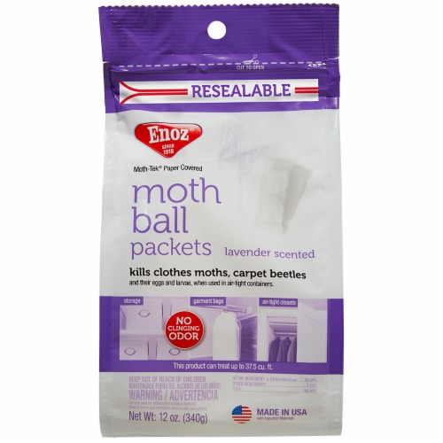 Enoz Moth Tek Lavender Scented Moth Ball Packets Perspective: front