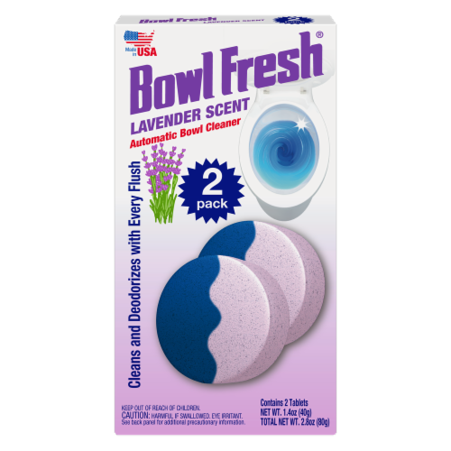 Bowl Fresh Lavender Scent Automatic Bowl Cleaner Tablets Perspective: front