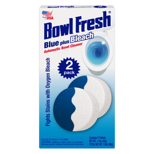 Bowl Fresh Blue Plus Bleach Automatic Bowl Cleaner Tablets Perspective: front