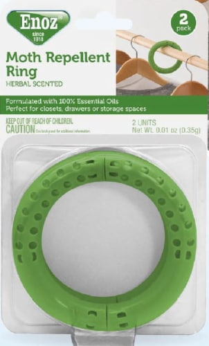 Enoz Moth Repellent Ring - Green Perspective: front