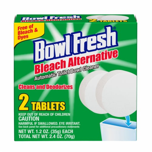 Bowl Fresh Bleach Alternative Automatic Toilet Bowl Cleaner Tablets Perspective: front