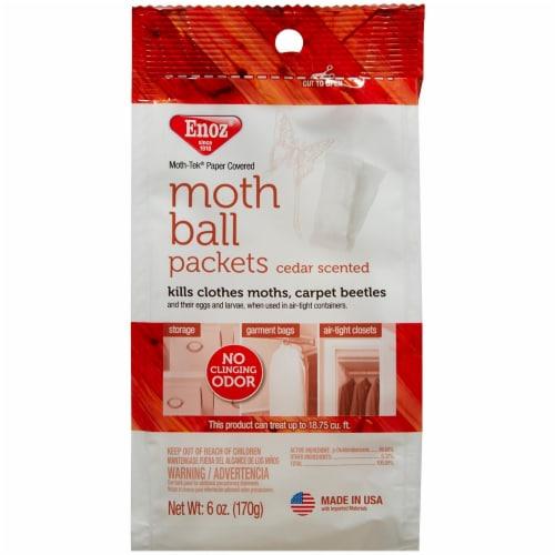 Enoz Moth-Tek Cedar Scented Moth Ball Packets Perspective: front