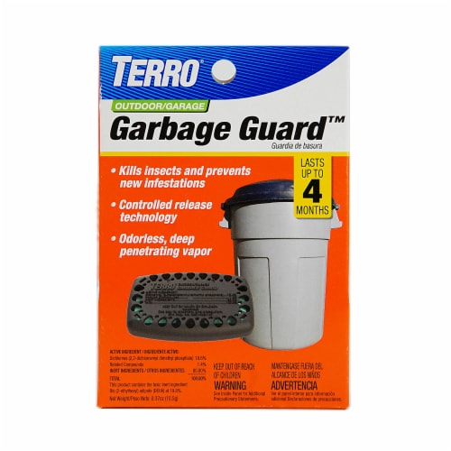 TERRO® Outdoor/Garage Garbage Guard Perspective: front