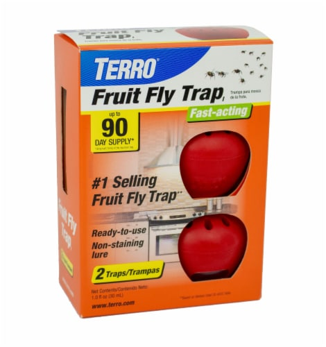 TERRO® Fruit Fly Traps - 2 pk - Red Perspective: front