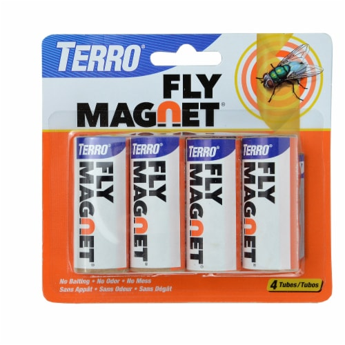 TERRO® Fly Magnet Tubes - 4 pack Perspective: front
