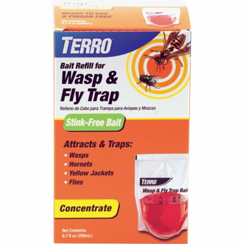 Terro 6.7 Oz. Liquid Outdoor Wasp & Fly Bait Refill T513 Perspective: front