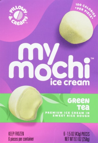 My/Mo Green Tea Mochi Ice Cream Perspective: front
