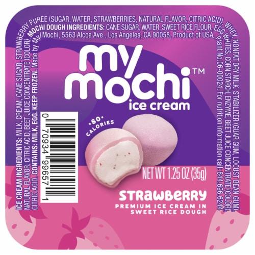 My/Mo Ripe Strawberry Mochi Ice Cream Perspective: front