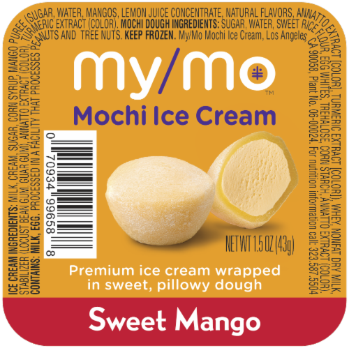 My/Mo Sweet Mango Mochi Ice Cream Perspective: front