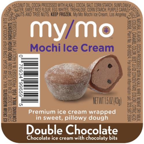 My/Mo Double Chocolate Mochi Ice Cream Perspective: front