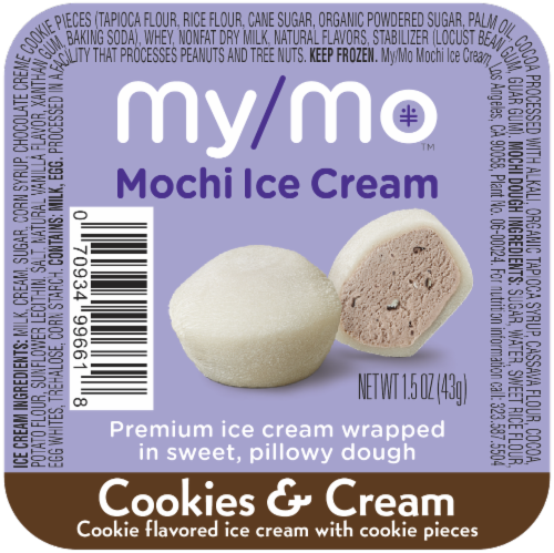 My/Mo Cookies & Cream Mochi Ice Cream Perspective: front