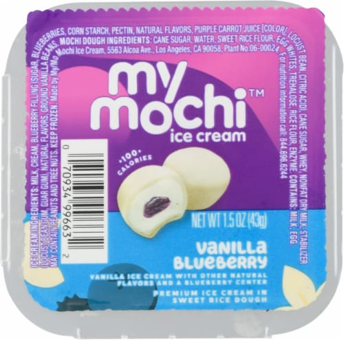 My/Mo Vanilla Blueberry Mochi Ice Cream Perspective: front