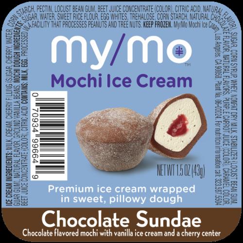 My/Mo Chocolate Sundae Mochi Ice Cream Perspective: front