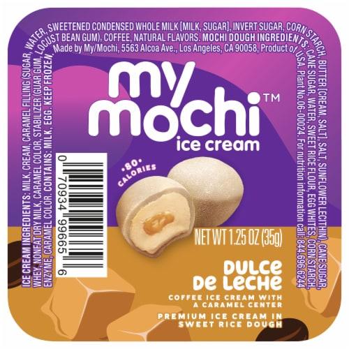 My/Mo Dulce de Leche Mochi Ice Cream Perspective: front