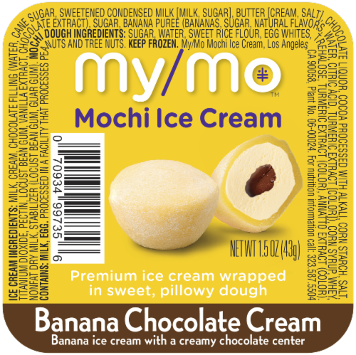 My/Mo Banana Chocolate Cream Mochi Ice Cream Perspective: front