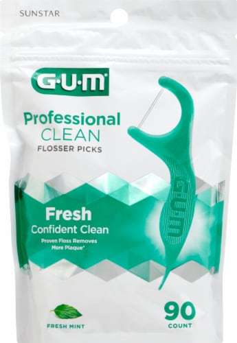 GUM Fresh Mint Professional Clean Flossers Perspective: front