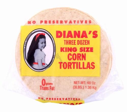 Diana's King Size Three Dozen Yellow Corn Tortillas Perspective: front
