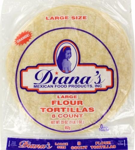 Diana's Large Flour Tortillas Perspective: front