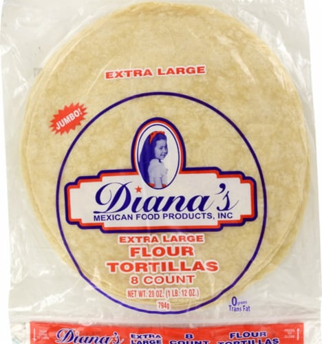Diana's Extra Large Flour Tortillas Perspective: front